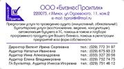 Аудиторские и бухгалтерские услуги,  вся Беларумсь
